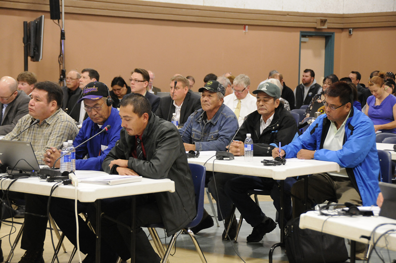Intervenors at a Commission hearing in La Ronge