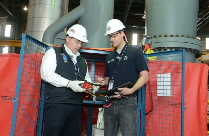 CNSC inspectors at the Point Lepreau Nuclear Generating Station