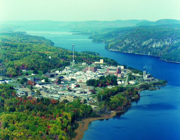 Aerial view of CNL's Chalk River Laboratories