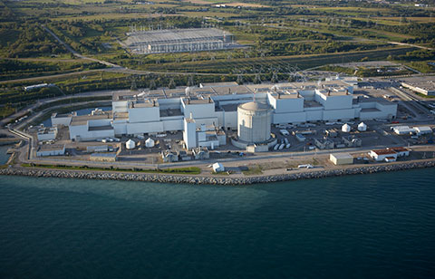 Aerial view of the Darlington Nuclear Generating Station