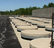 ILRW in ground storage structures