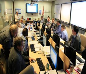 CNSC Emergency Operation Centre during the accident at the Fukushima Daiichi nuclear power plant.