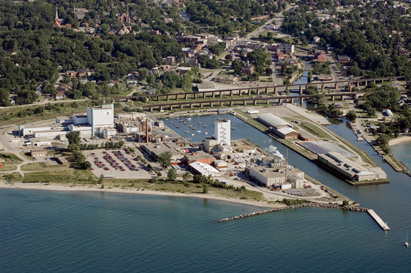 Aerial view of Cameco's Port Hope Conversion Facility