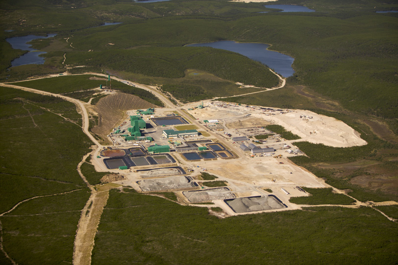 Aerial view of Cameco's McArthur River Mine site